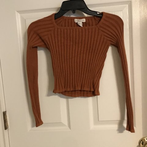 e9561a2726e2c3 @antiscream. 10 months ago. San Antonio, United States. burnt orange ribbed forever  21 crop top long sleeve