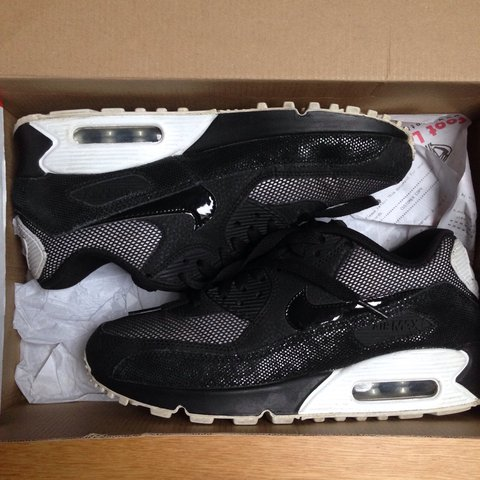 Size 5.5 Black and White Nike air max 90s with box. They but - Depop a5206e4ba