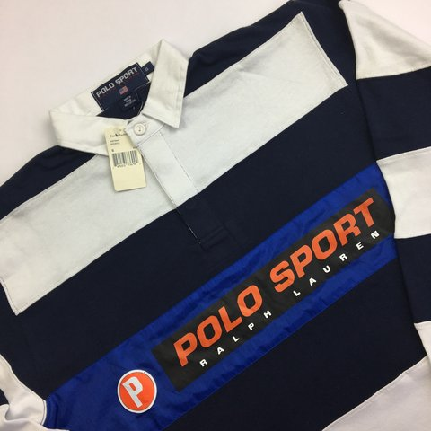 d2344549 @garmgalore. 2 years ago. London, UK. Vintage Ralph Lauren Polo Sport Rugby  Shirt Top.
