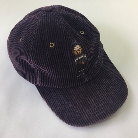 90510dec02ca1 Vintage Polo Bear Ralph Lauren Corduroy Cord Cap Hat One Depop