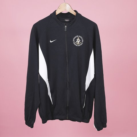 cba0acdd8d5c Vintage Black Nike Track Jacket. Size mens large. This is - Depop