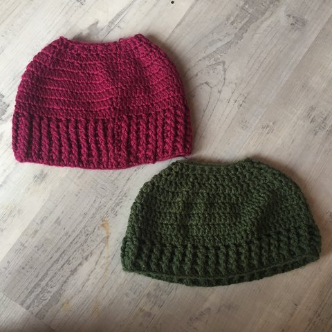 9447f359acf00 2 bun- beanies! Handmade by me! Just made them and never one - Depop