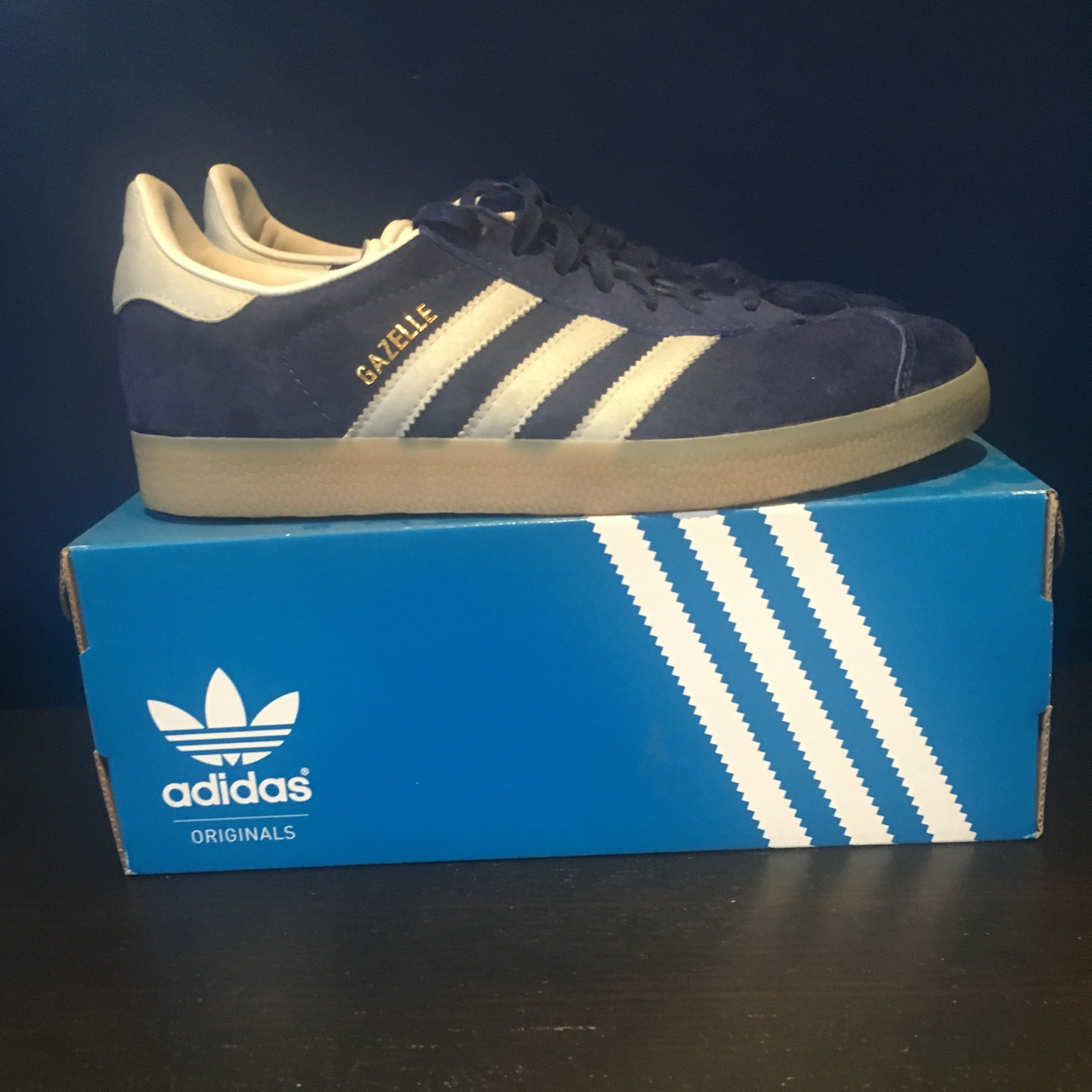 Adidas Gazelle navy cw. 1010 condition. RRP £80 as