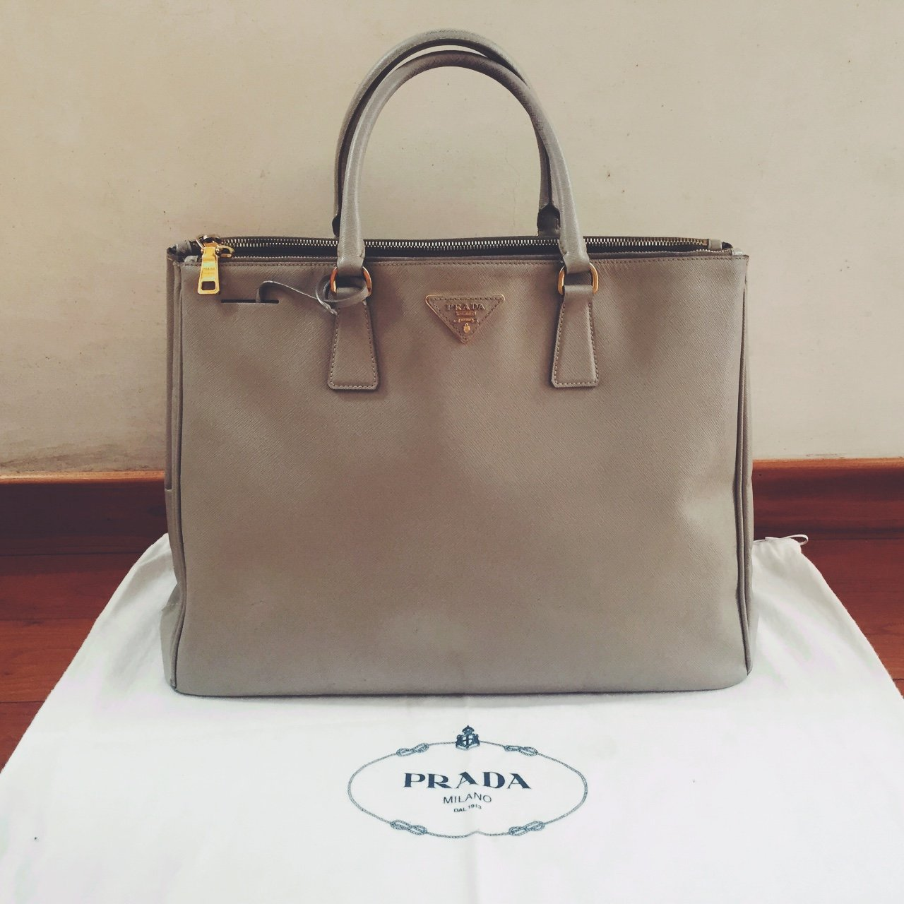 1f366b337203 ... inexpensive prada saffiano lux leather executive tote baglarge size x  depop 9ffcc cec0b