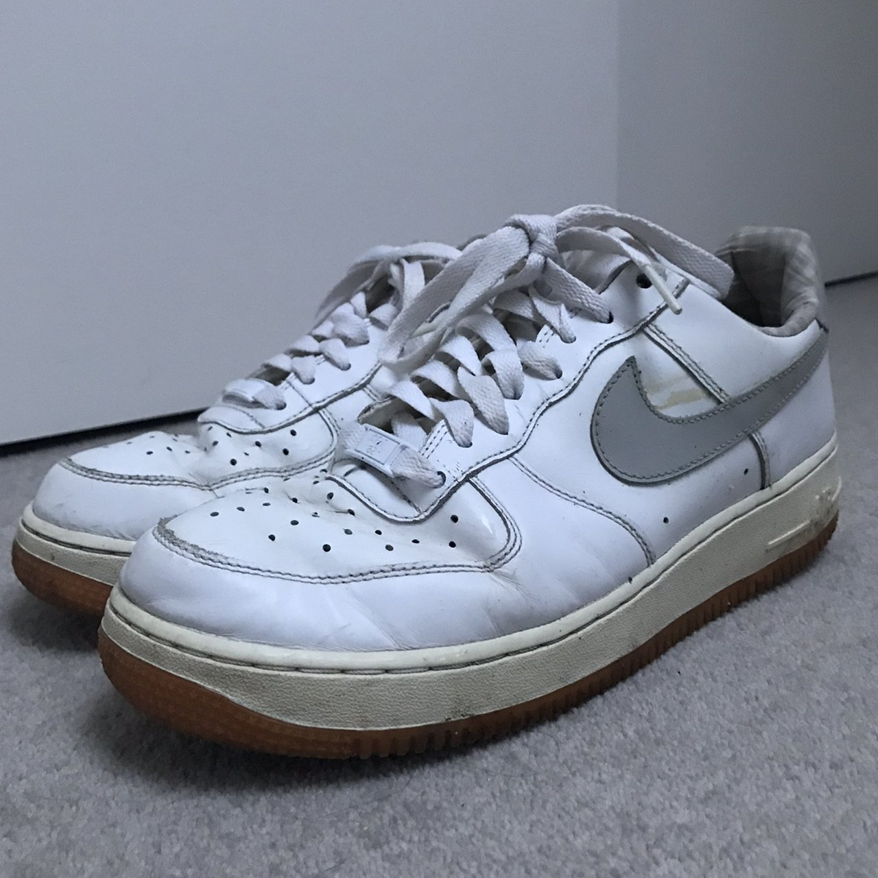 White Air Force 1 with grey tick