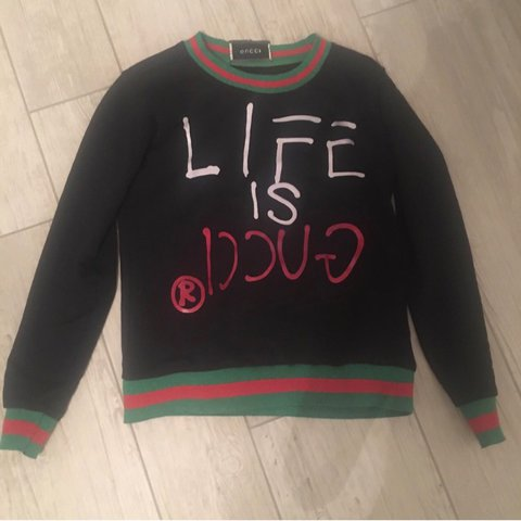 e5ab85927 Life is gucci sweater   life is gucci ghost sweater... - Depop