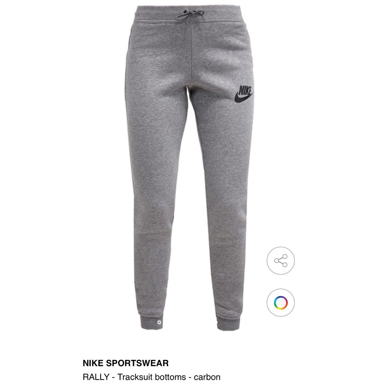 b7feaa037247 Women s grey skinny Nike joggers tracksuit bottoms. Only in - Depop