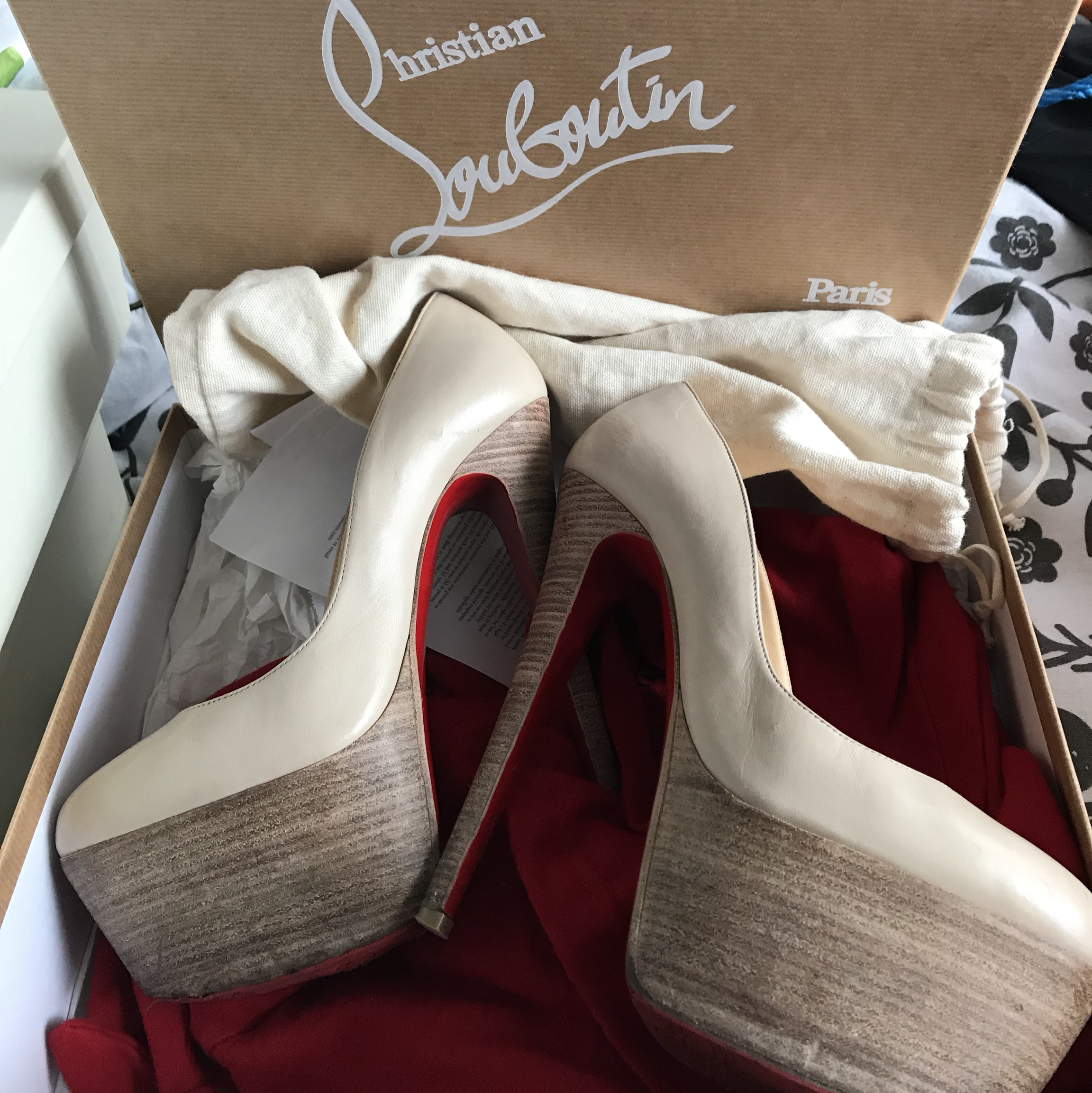 Christian Louboutin Shoes high heel wood material Depop