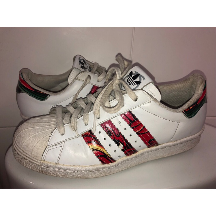 premium selection b68cb e0b19 Adidas Superstar 80's, Rita Ora White Dragon... - Depop