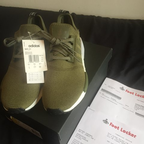 377a239d2 Adidas NMD R1 Olive Cargo Green. Brand new in the box. Tags - Depop