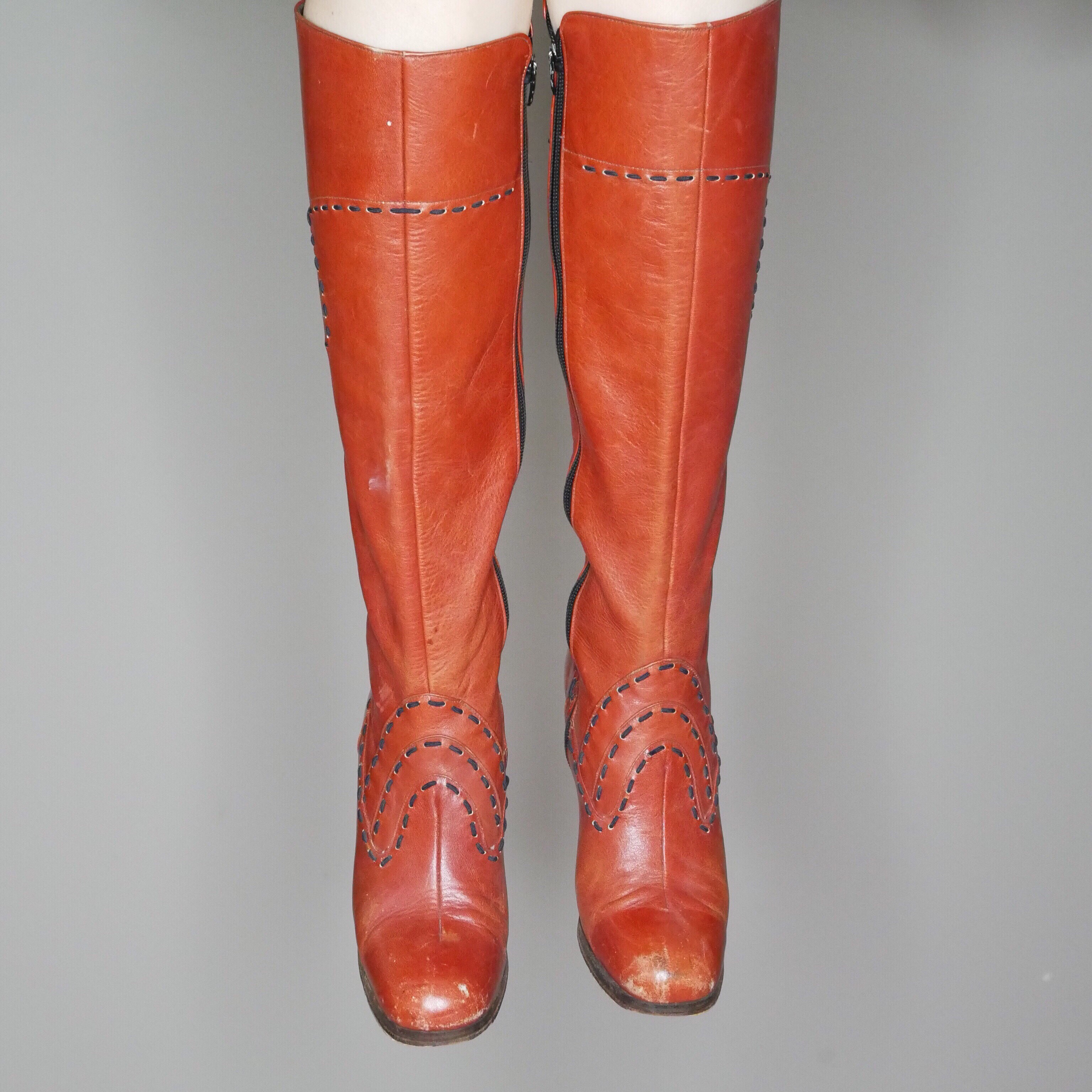 Qt mod western style knee high boots from the    - Depop