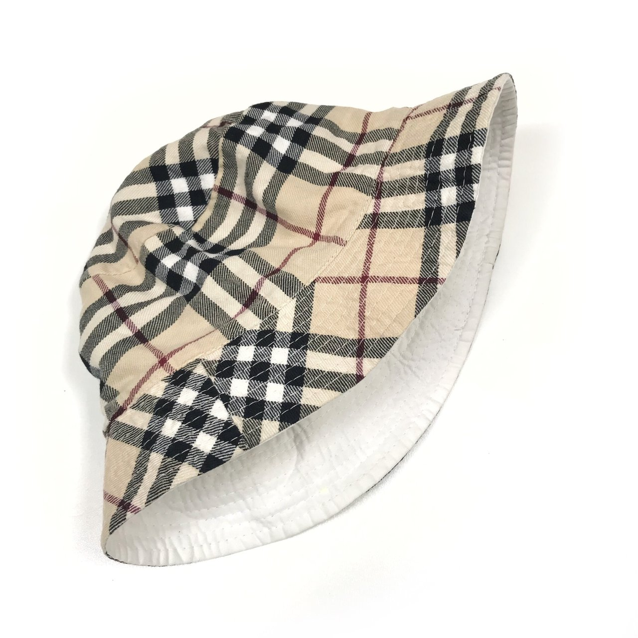 BURBERRY nova check bucket hat - men s medium size however - Depop acd7cb87cc3