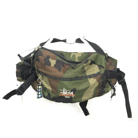 9c654694e2d Stussy Outdoors 80 s S80 Technical Bag Camouflage VNDS   Of - Depop