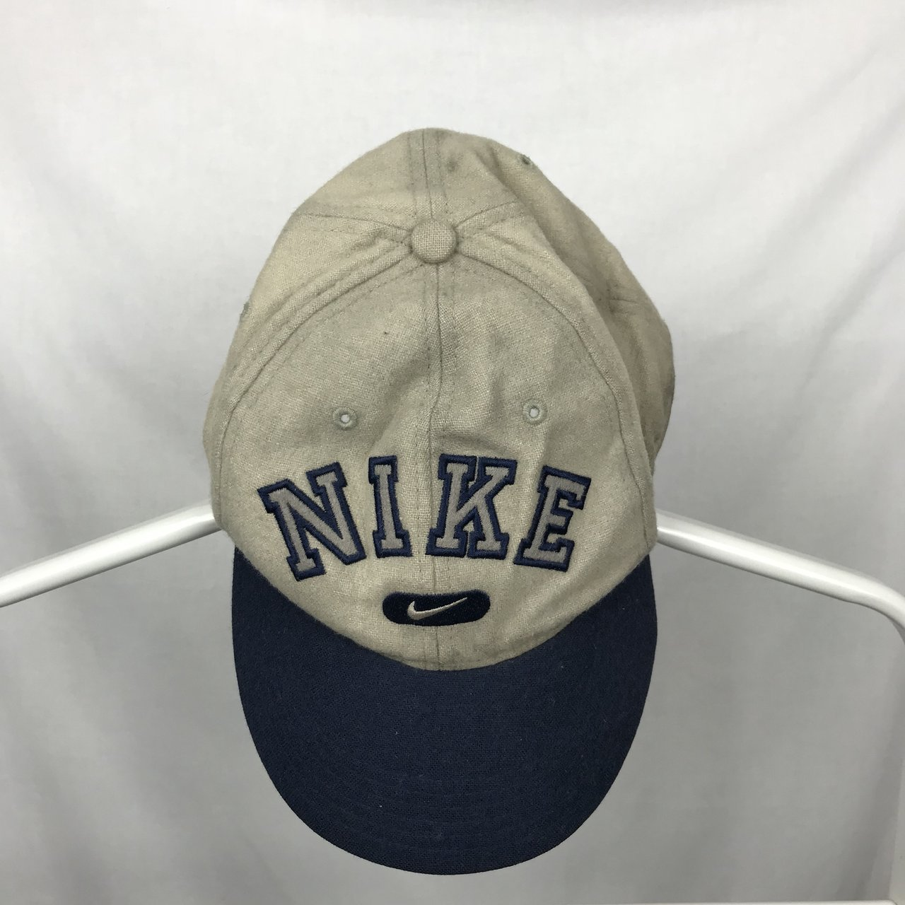 Nike Old School Dad Cap Hat Swoosh And Spellout . Vintage - Depop cd98d52a036