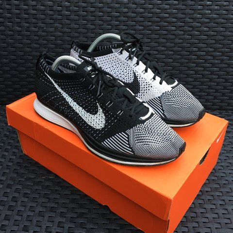 629b37b6b2562 Nike flyknit racer orca 8 10 - These aren t the less sort no - Depop