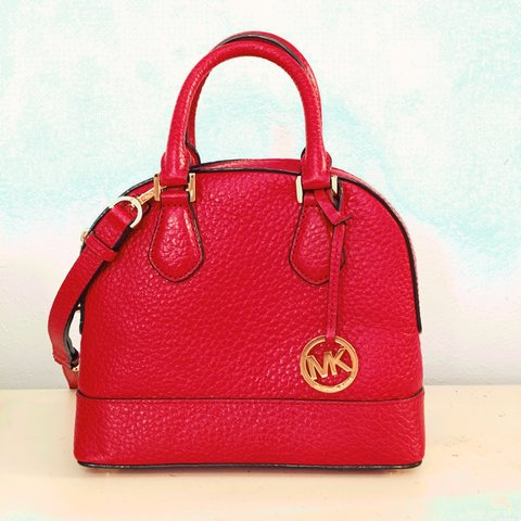 62e8530c4dd421 ... czech red michael kors bag small leather gently used. bag red depop  262fa 99a16