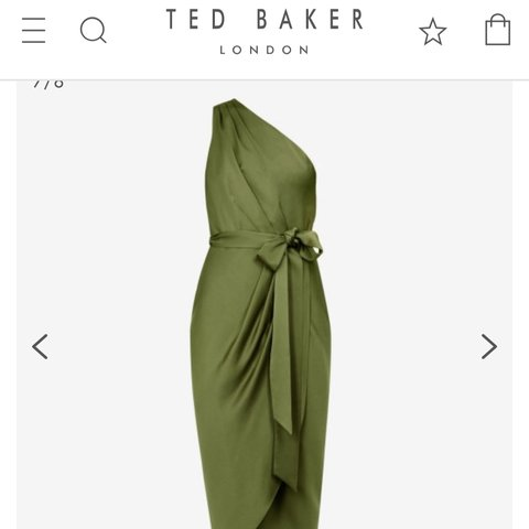 fbecae70e GABIE Ted Baker one shoulder drape midi dress - great for of - Depop