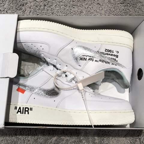 642e77bad40178 Off-White Nike Air Force 1 Complexcon Edition. Worn once for - Depop