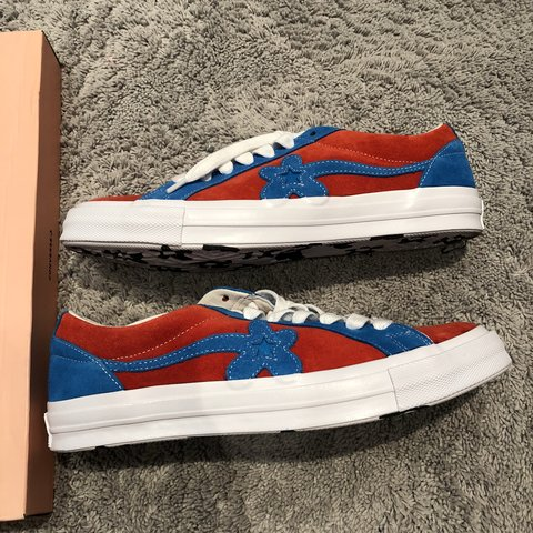 c7710b6551c GOLF le FLEUR X Converse Red and blue SS18 shoes - New with - Depop