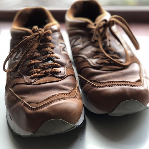For sale a pair of brown leather New Balance 1500 Depop