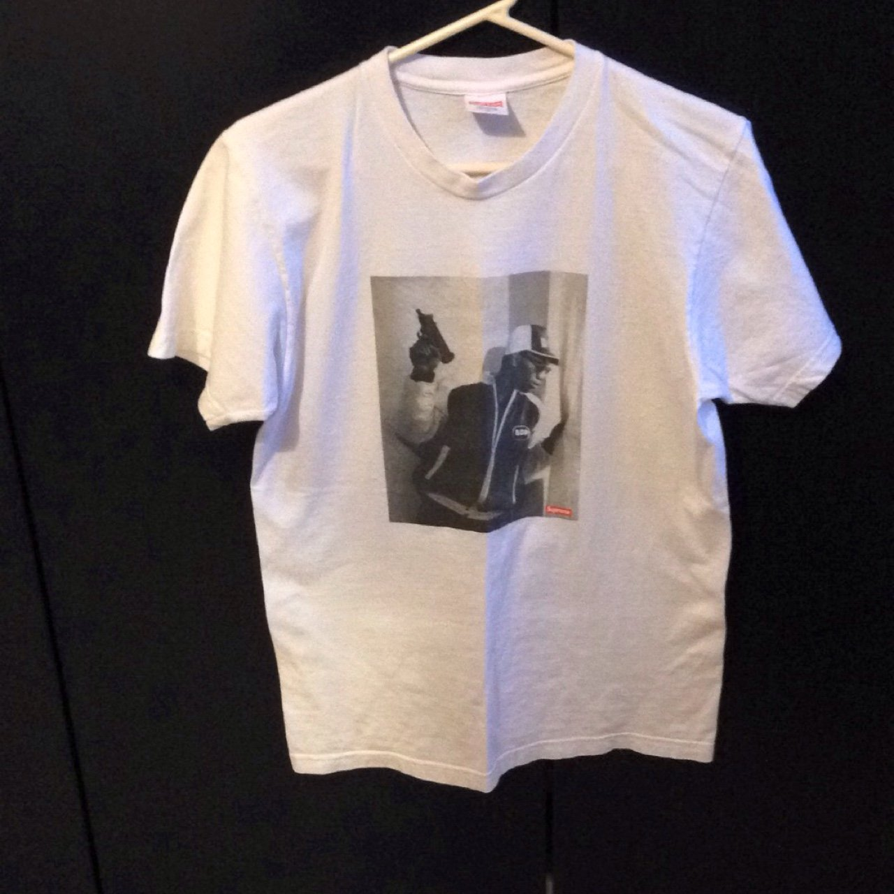 8c3aa463268f Supreme KRS One tee white size medium. 9 10 condition no at - Depop