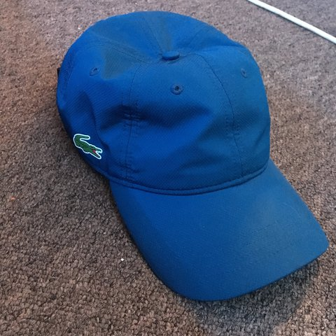 Lacoste cap Blue Men s or women s One size Velcro strap - Depop b12c49b37d92