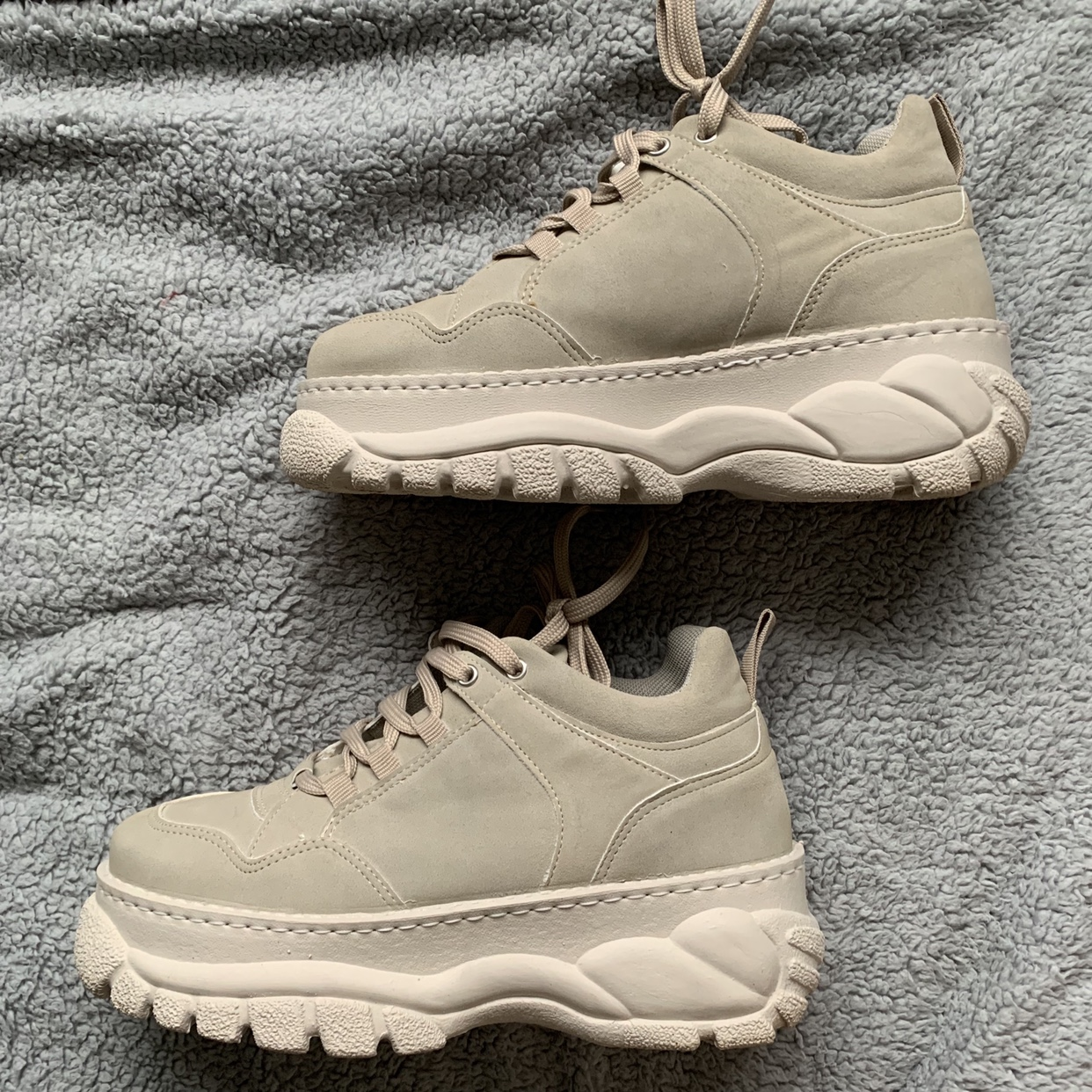 Topshop cairo chunky trainers. A beige