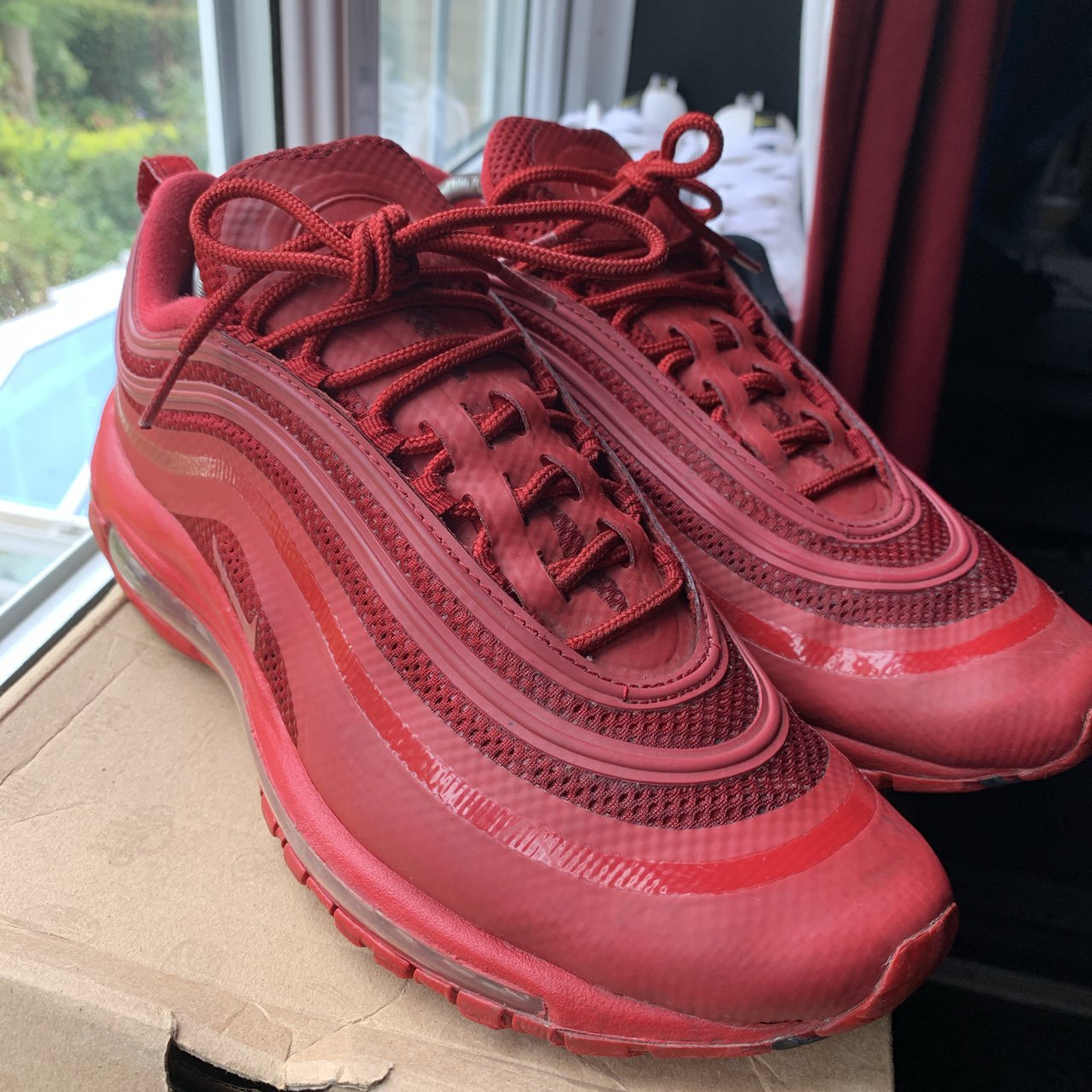 Nike Air max 97 Hyperfuse Gym Red, 910 condition, Depop