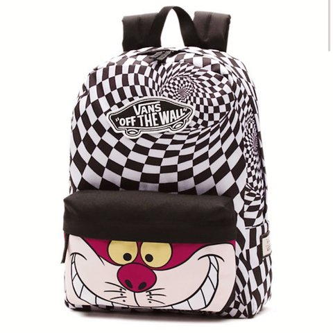 9f8c8fc5c4be93 Cheshire Cat Disney Vans backpack - Alice in wonderland Used - Depop
