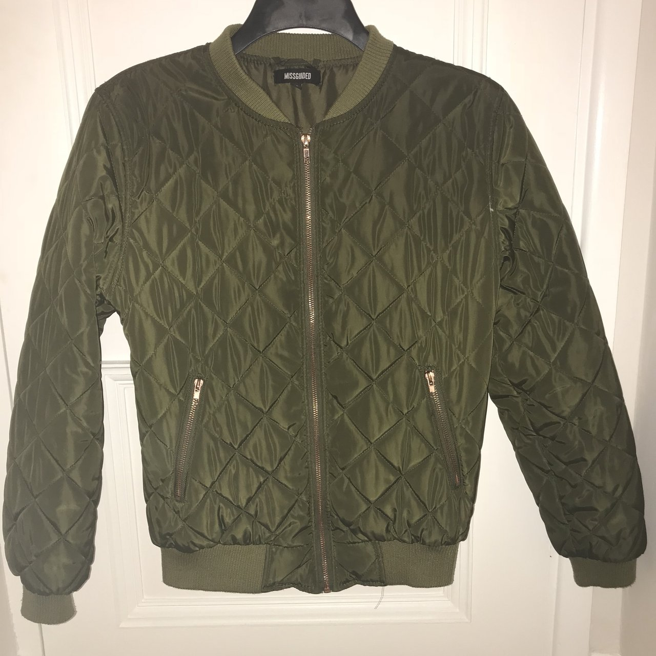 54fcf82353c27 Missguided size 12 khaki quilter