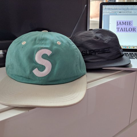 3e7206c42bc 🚨 Supreme 🚨 ⚠️below retail⚠ 2 for 45 ⚠ 6 six panel teal - Depop