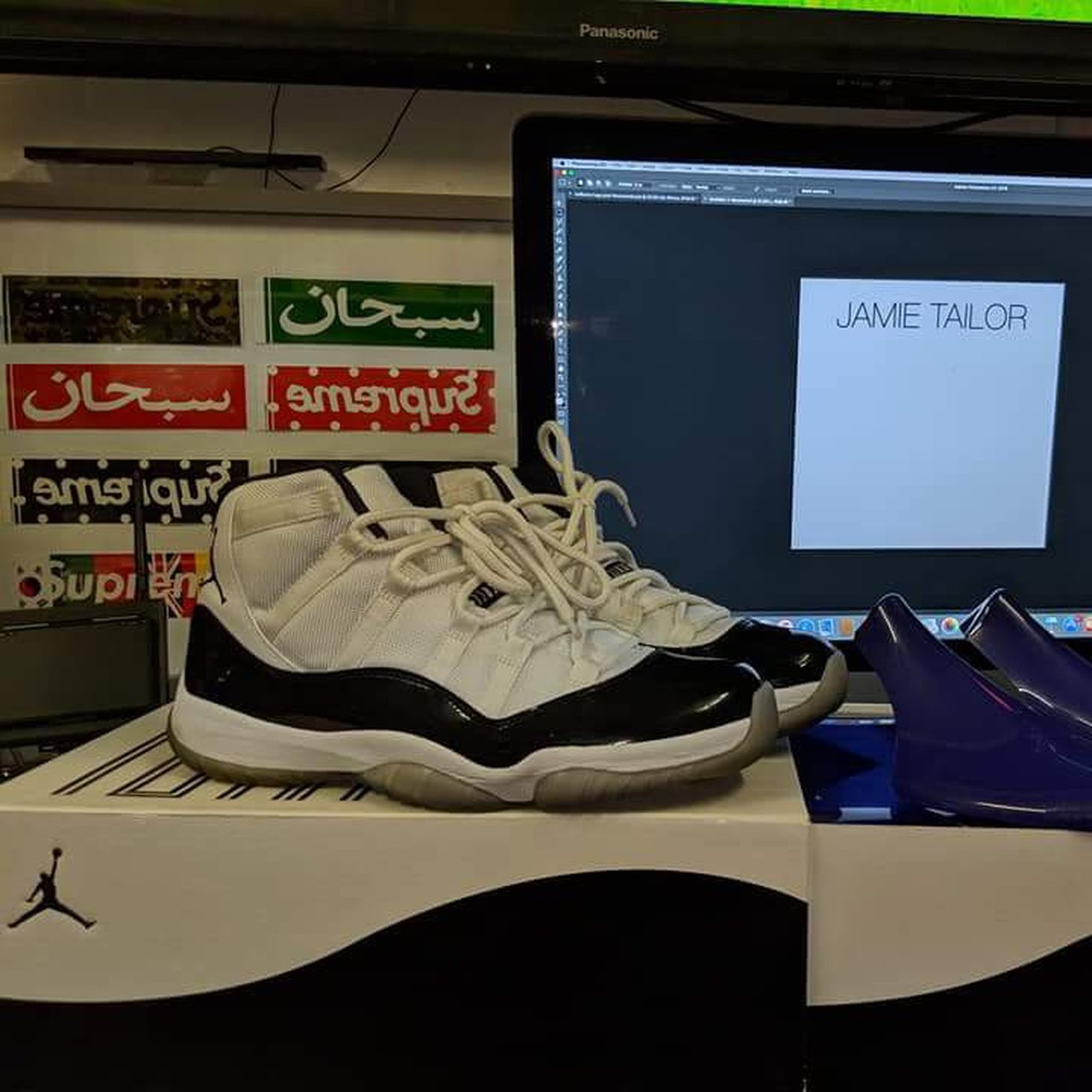0a74f1e37a4 Jordan 11 Concord 9-10 23 on the back 🔥 Pm for info - Depop