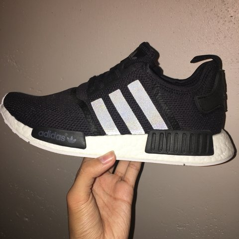 640fa37ab4 ADIDAS NMD  MESH BLACK  SIZE UK 9  Brand New Worn once so a - Depop
