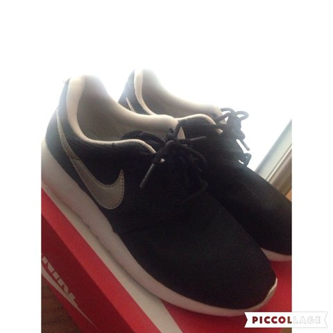439983b59769 closeout nike roshe one womens shoe 5fa94 91730  where can i buy nike roshe  run. size 5. black with silver tick and