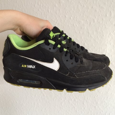 088d2a7037 @ladypenelope. 2 years ago. London, UK. Nike Air max 90 black neon fluro  green white tick ...