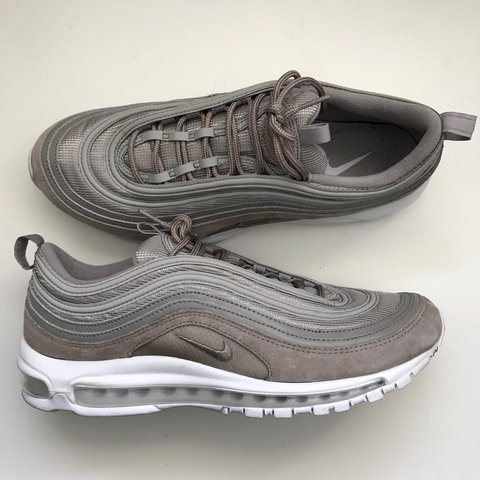 a66421c24d195e NIKE AIR MAX 97 grey suede cobblestone - 9 10 condition