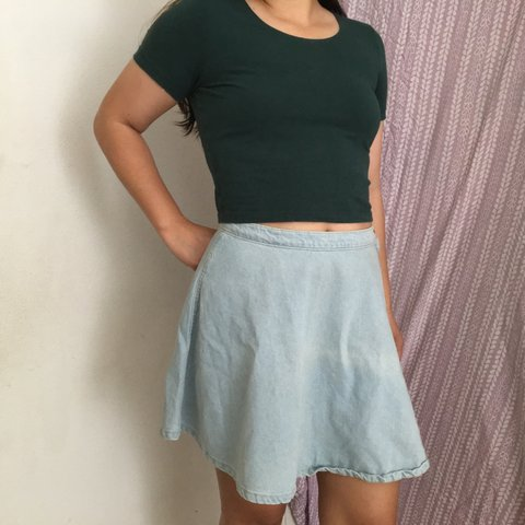 848188a71 American Apparel Denim Circle Skirt! Medium Stone Wash. They - Depop
