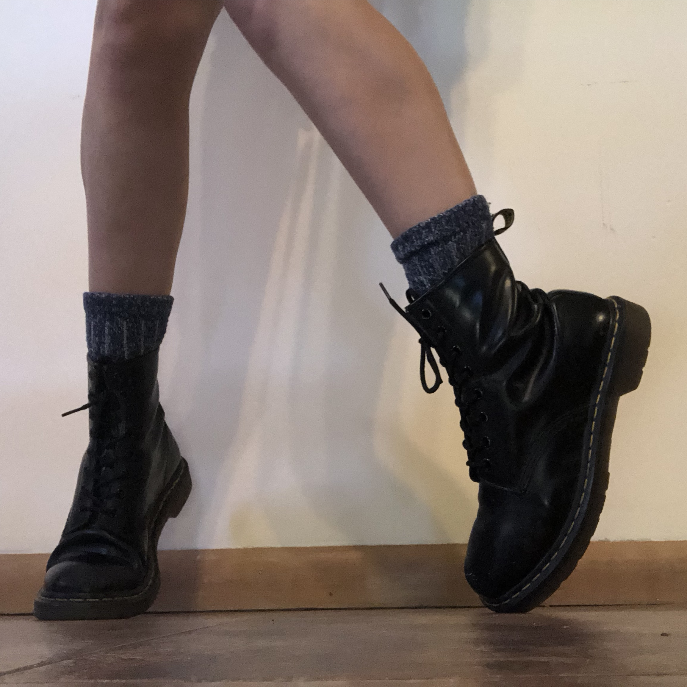 Adorable black glossy doc martens. The