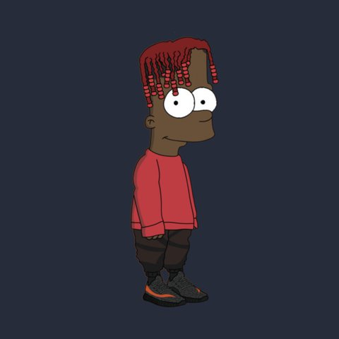 Lil Yachty Bart Simpson Poster Free Pp Only 11 Depop
