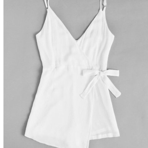 c45afd0a0be5 Surplice Knot Side Pleated Cami Romper size 10