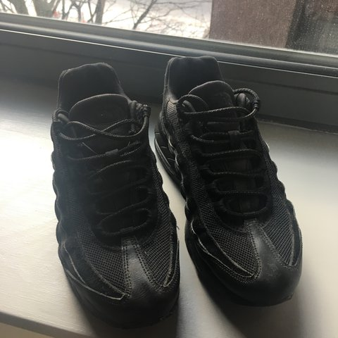 9f430bae8c @chloecox. last year. Hove, United Kingdom. Nike air max 95s black really good  condition ...