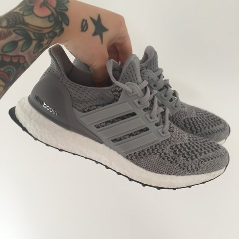 8c7287e1c7a98 Adidas Ultra Boost in Grey. Size 3.5. Trainers are in been I - Depop