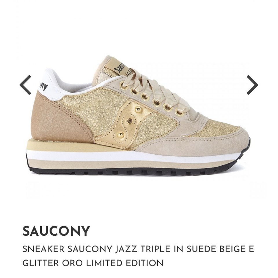 Saucony jazz limited edition glitter oro lacci in - Depop