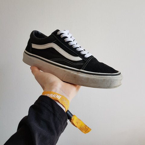 e2e7f1d39cfc Old Skool Vans In good condition 7.5 10 bought them for work - Depop