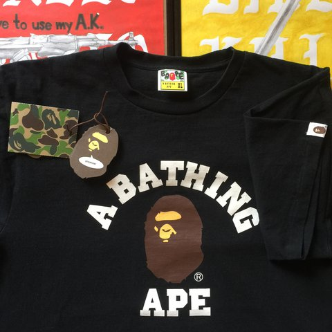02be53c2 @seeyouinspace. 2 years ago. Portsmouth, UK. A Bathing Ape, BAPE XL tee ...