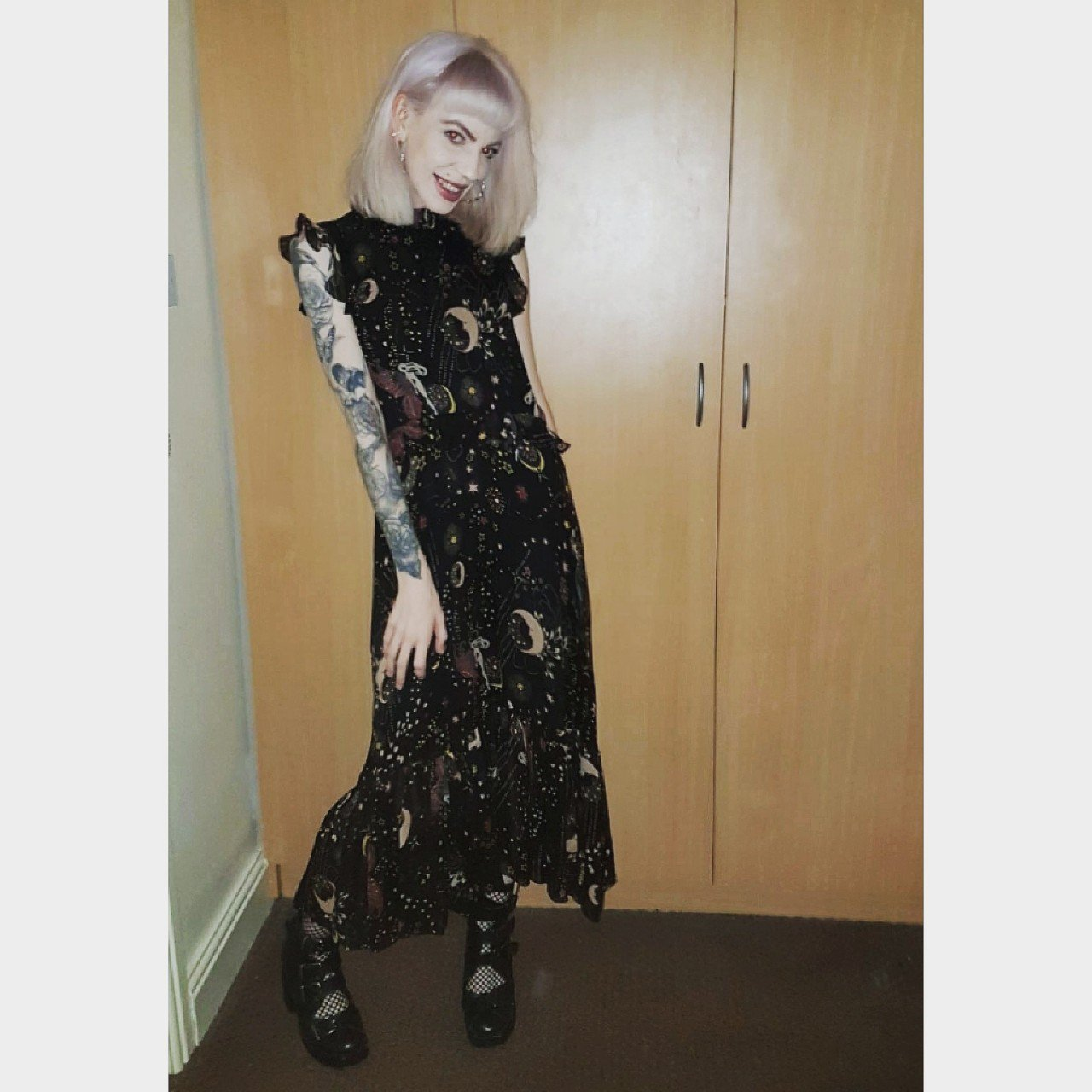 4587670a Stunning Zara Premium maxi dress with gorgeous moon and for - Depop