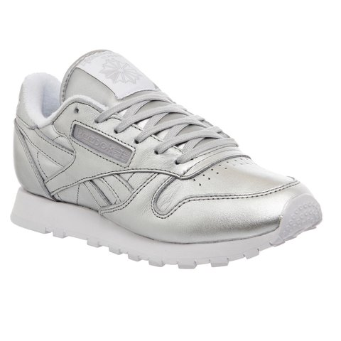 9048933667d BRAND NEW Silver Reebok Classic Leather women s shoes