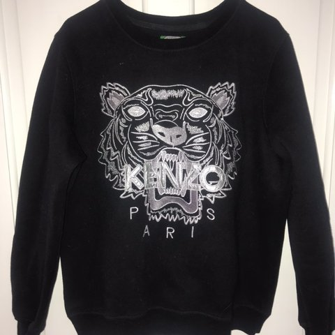 0291cd677 BLACK AND SILVER TIGER KENZO JUMPER 100% authentic, good to - Depop