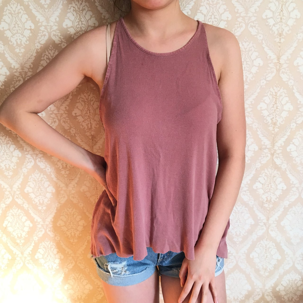 658c8d1959 effortless mauve colored tank perfect