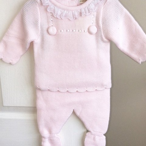 Spainsh Brand Babys 3 Peice Knitted Set Outfits & Sets